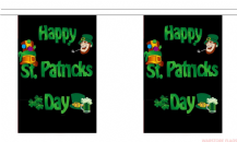 HAPPY ST PATRICKS DAY BUNTING - 18 METRES 30 FLAGS